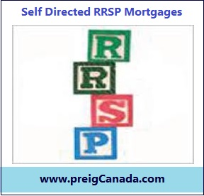 Self Directed RRSP Mortgages, RRSP Mortgages