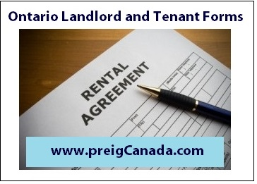 Ontario Landlord Tenant forms