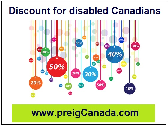 Discount for disabled Canadians