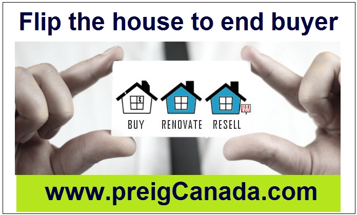 Procedure of flipping houses