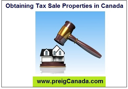obtaining tax sale properties in canada preig canada