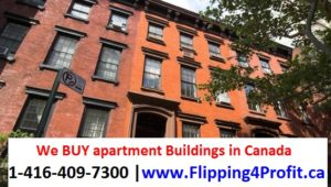 We Buy Apartment Buildings in Canada
